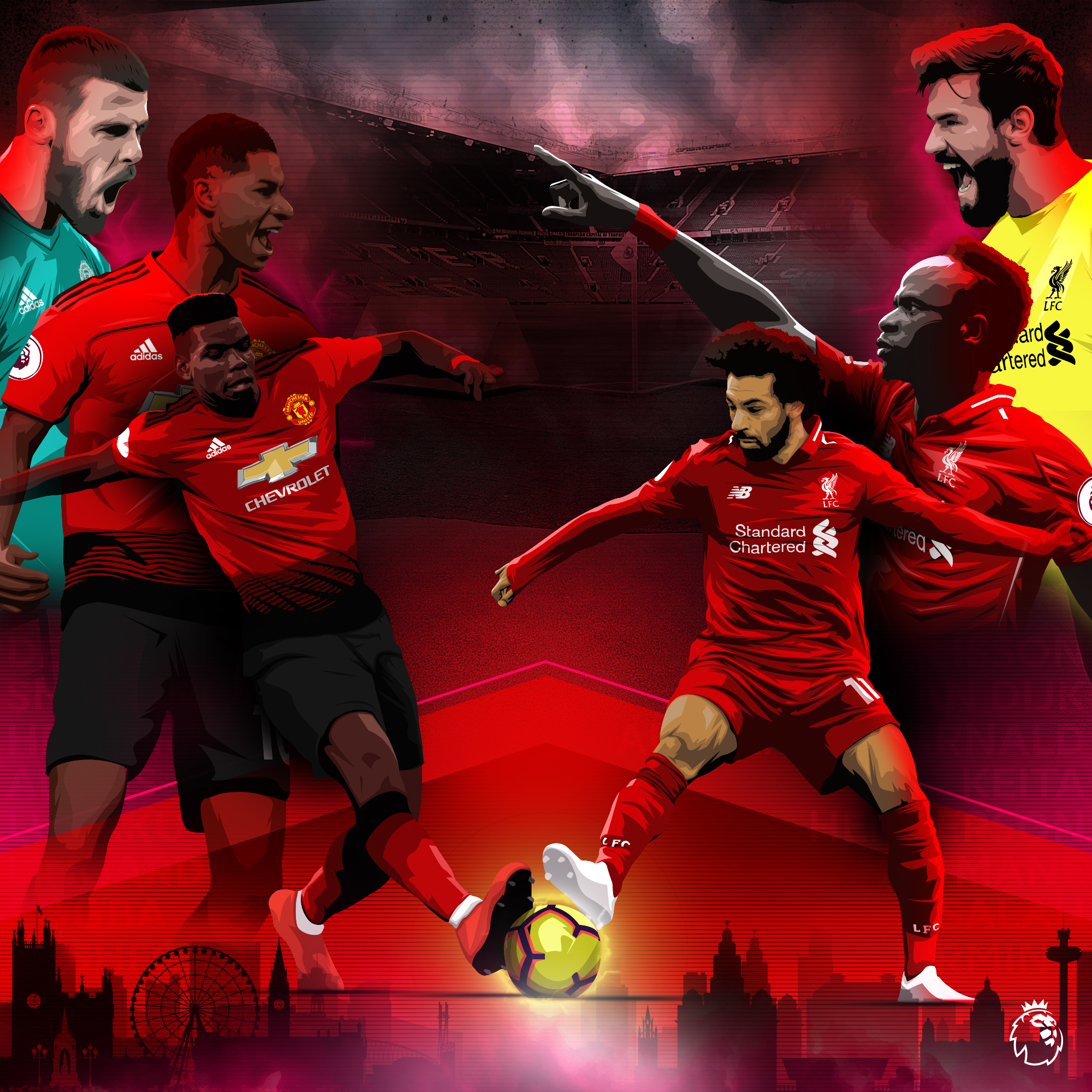 PL - Manchester United v Liverpool Idea Clean