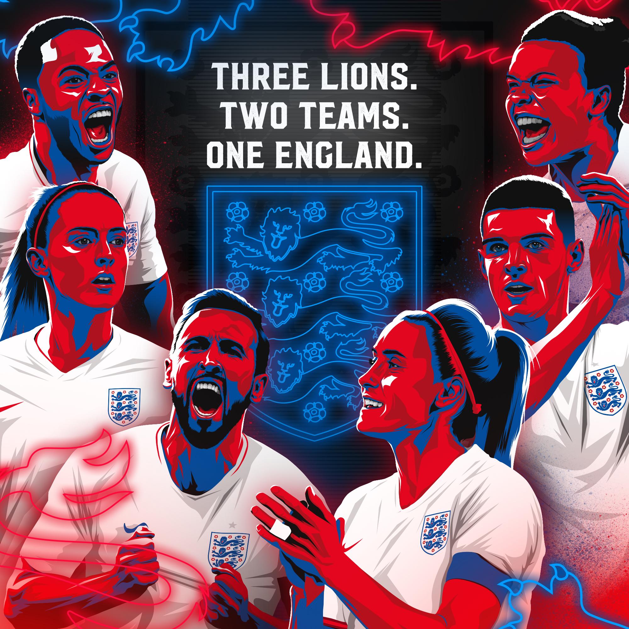 England 3 Lions 2 Teams 1 England Square